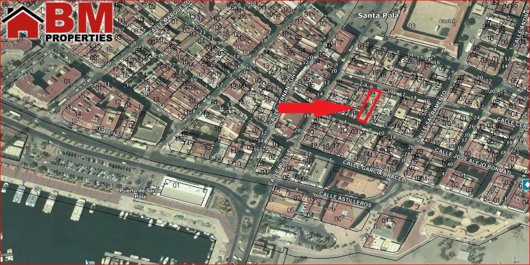 Solar urbano  Calle cervantes, 8. Solar edificable en el centro urbano de santa pola