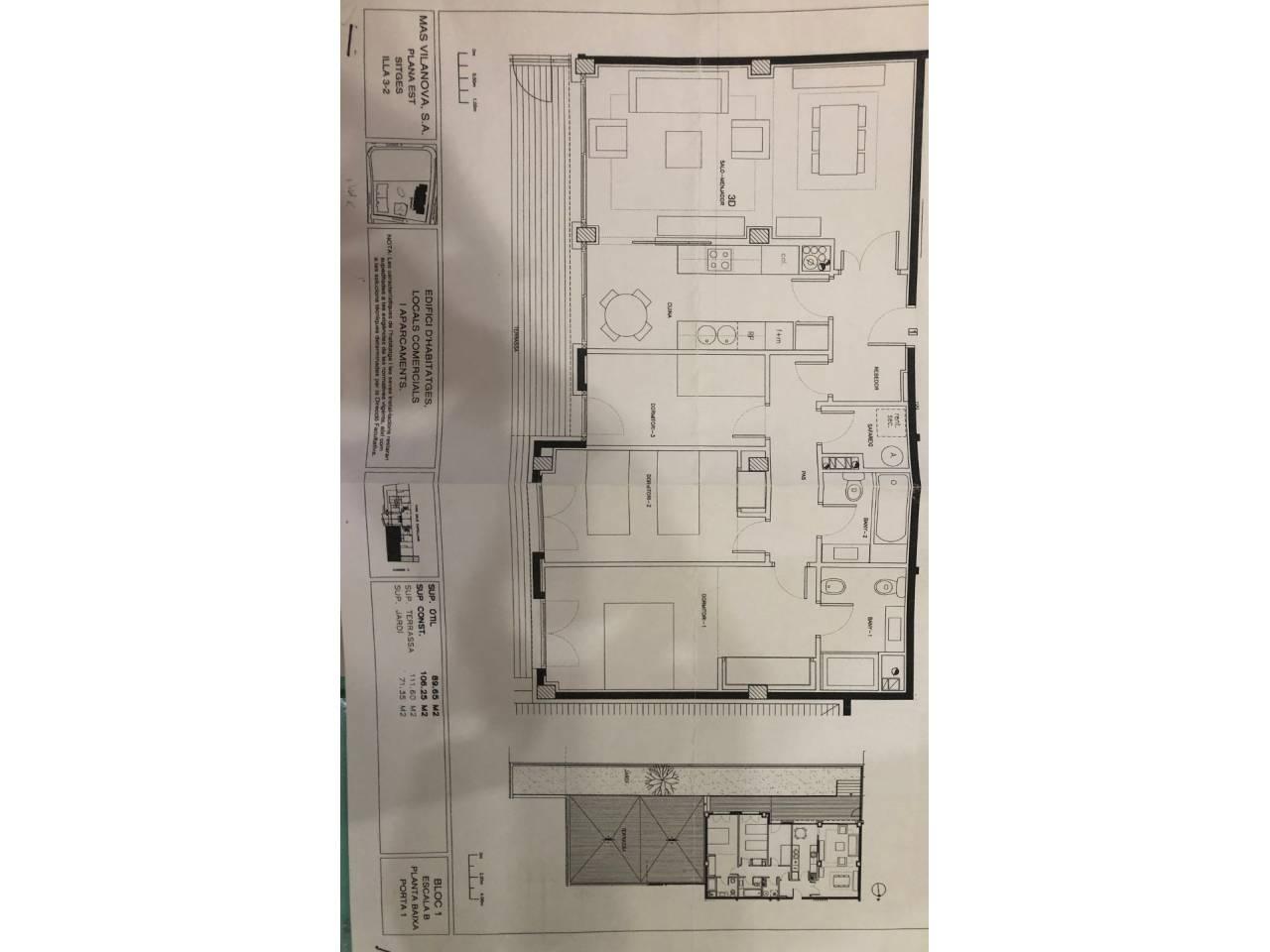 Piso  Calle cami capellans. Inigualable planta baja con más de 180 m2 de terraza y jardín pr