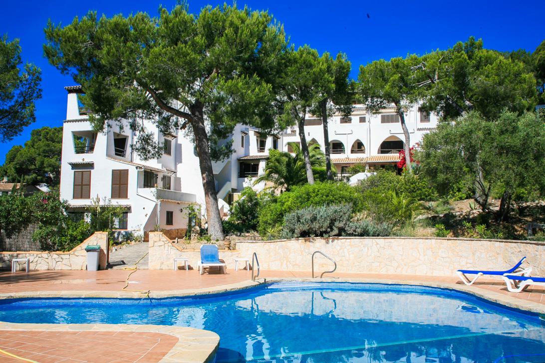 Flat  Andratx - port d´andratx. Encantador apartamento mediterráneo en comunidad con piscina