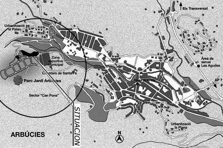 Urban plot  /plan parcial can pons parcela 1