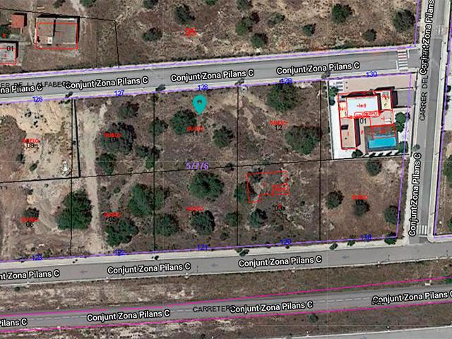 Solar urbano  Carrer de l'alfàbega. Oportunidad de solar urbano edificable de 836m² en urb.els pilan