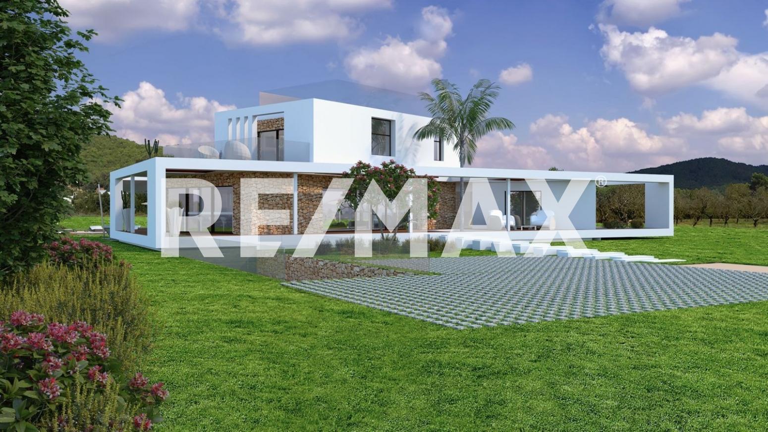 Solar urbà en Sant Antoni de Portmany. Terreno con proyecto para construir una estupenda villa en san r