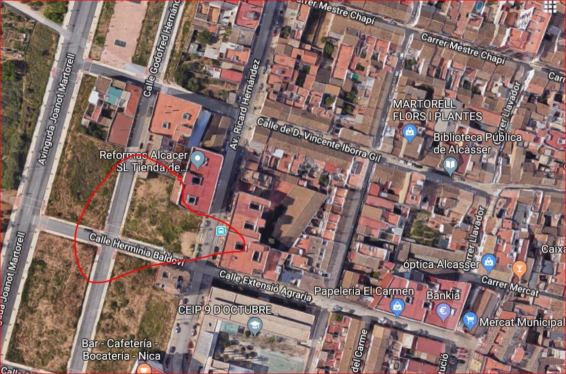 Stadtgrundstück  Avenida ricardo hernandez, 28. Solar en venta en alcasser.