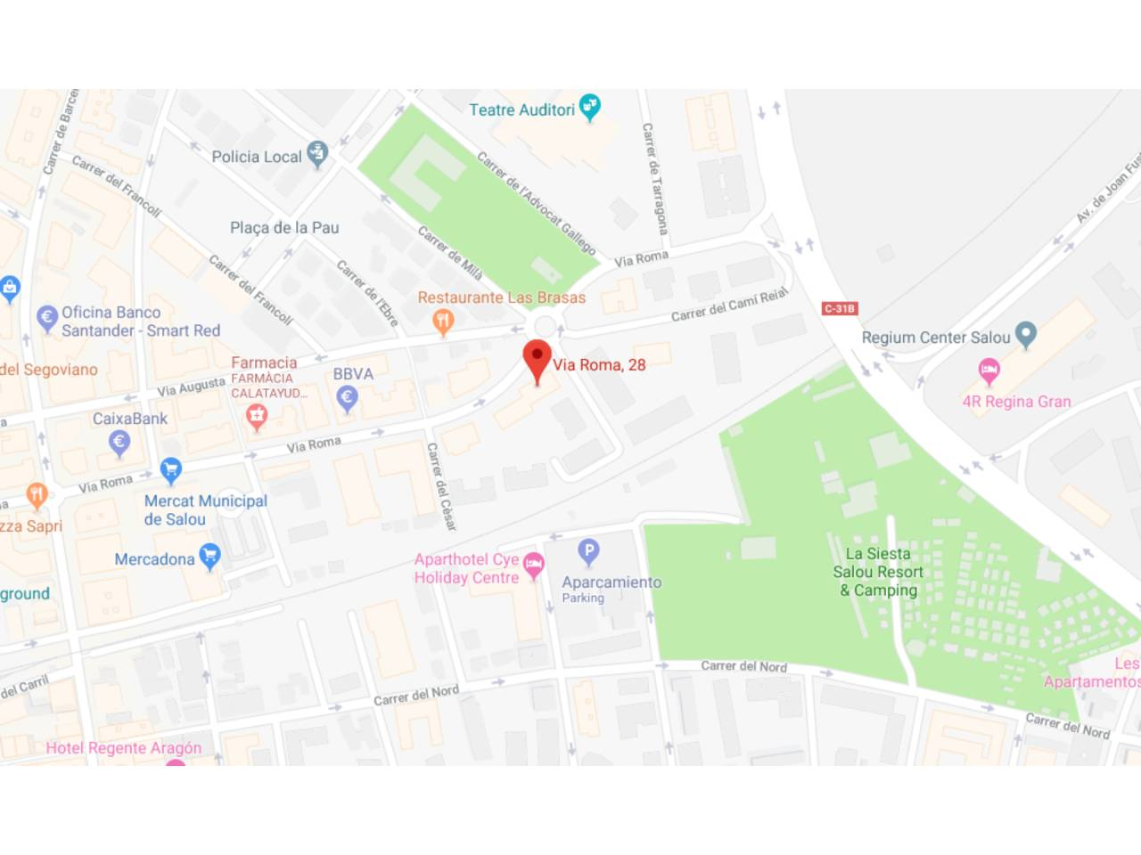 Miete Autoparkplatz  Calle via roma, 28. Alquiler de plaza de parking en el centro de Salou.  en la calle