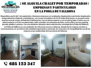 Viviendas de alquiler en Valencia Provincia