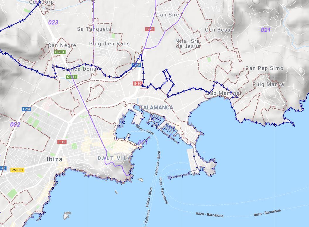 Ibiza Karte Playa D En Bossa.Stadtgrundstück Eivissa Ses Figueretes Platja D En Bossa Cas Serres Terreno Para Uso Industrial De Unos 9 900 M2 En Venta En Ibiza