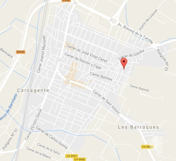 Terrain urbain à Carcaixent. Urbano en venta en carcaixent (valencia) dels calciners