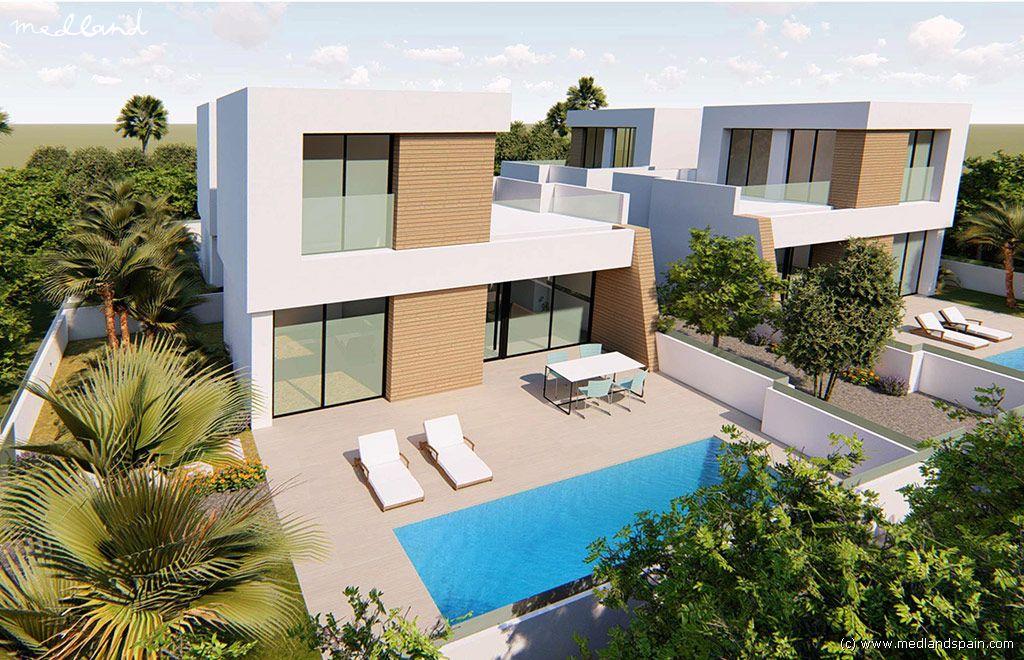 Casa a Benijófar. Moderno chalet con grandes terrazas y piscina privada en benijóf