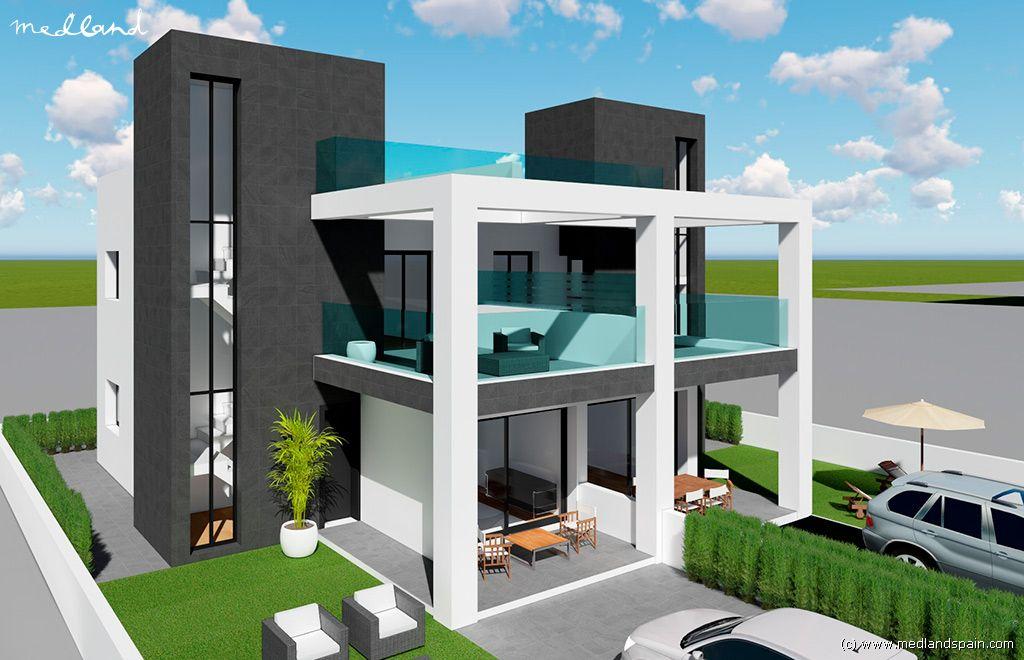 Casa en Benijófar. Moderno chalet con piscina privada y solárium en benijofar.