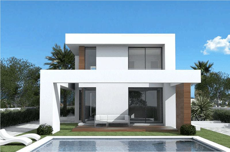 Casa en Pedreguer. Lovely modern house project available in denia.