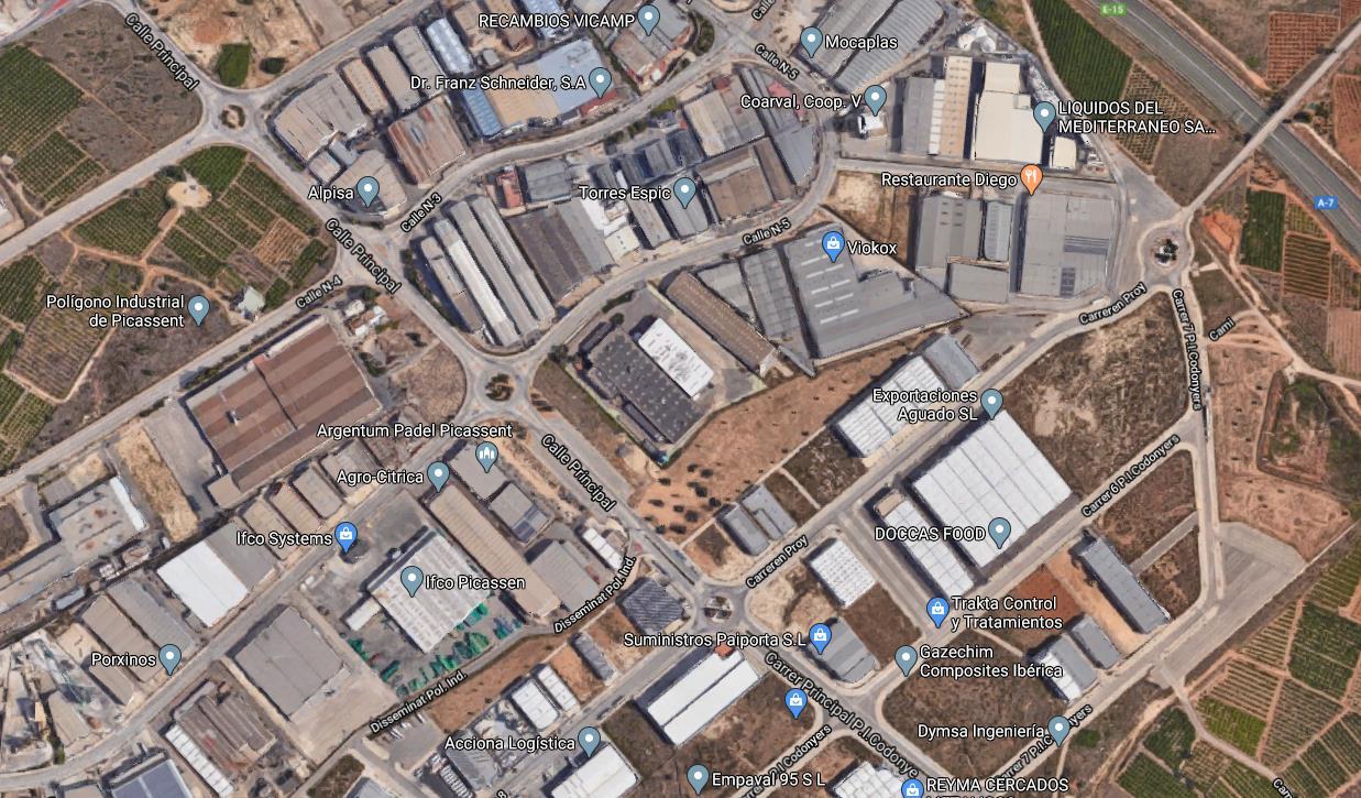 Bâtiment à usage industriel  Calle principal polígono industrial. Nave industrial   junto ap-7 y v-31   en valencia