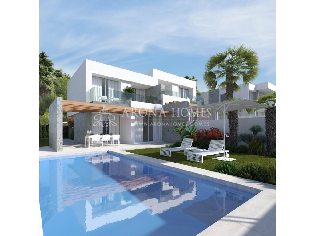 Piso  Finestrat, finestrat, alicante, españa. #1605 viviendas pareadas de diseño moderno y estilo minimalista.