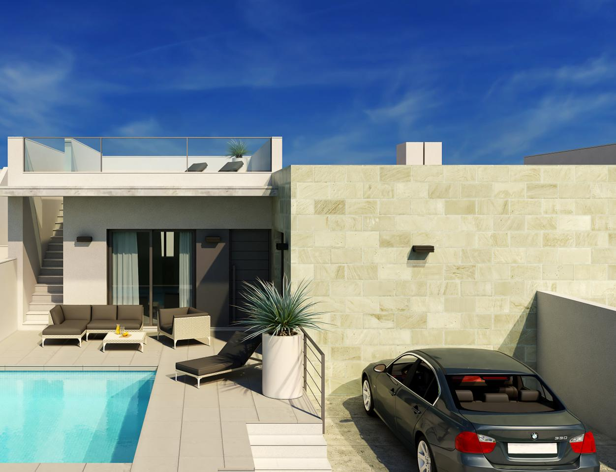 Casa en Formentera del Segura. Exclusivas villas de 2 y 3 dormitorios a 8 minutos de la playa.