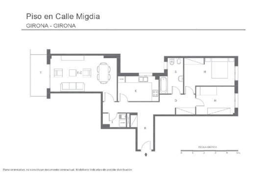 Alquiler Piso  Carrer migdia, 165. En pleno migdia, piso de 2 habitaciones acabados de calidad