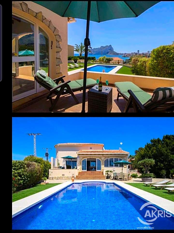Alquiler Casa en Benissa Pueblo. Ref 422. villa de lujo  en benissa,  muy cerca de la playa. y a