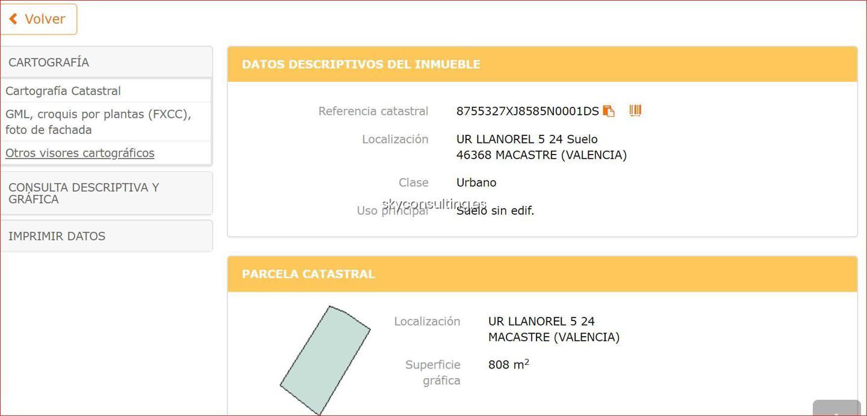 Solar urbano  Calle las acacias ur llanorel 5 22 suelo 46368 macastre (valenci. Venta de parcela urbanizable en la ur llanorel 5 24 suelo 46368