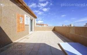 Alquiler Piso  Playa de la pobla de farnals,la pobla de farnals,valencia. Dúplex con amplia terraza, piscina y pistas deportivas en la pla