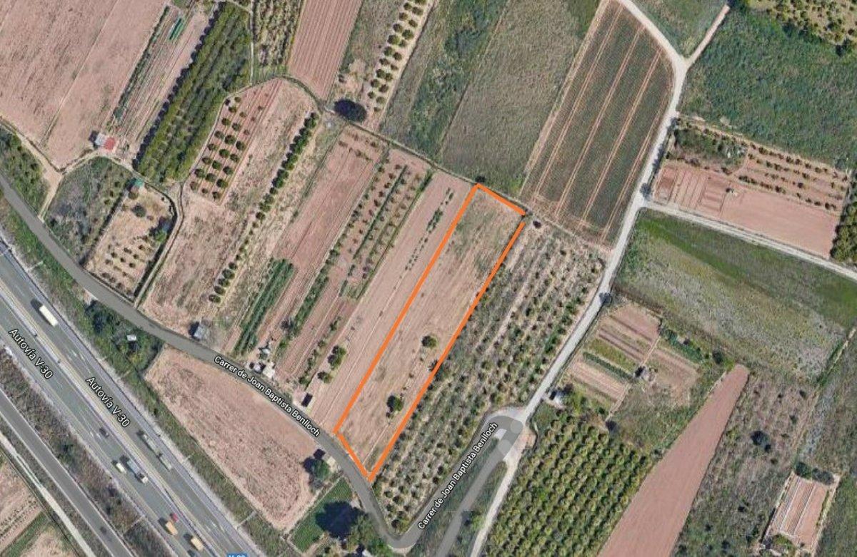 Urban plot  Quart de poblet ,la fila. Parcela rústica de uso agrario en partida la fila de quart de po