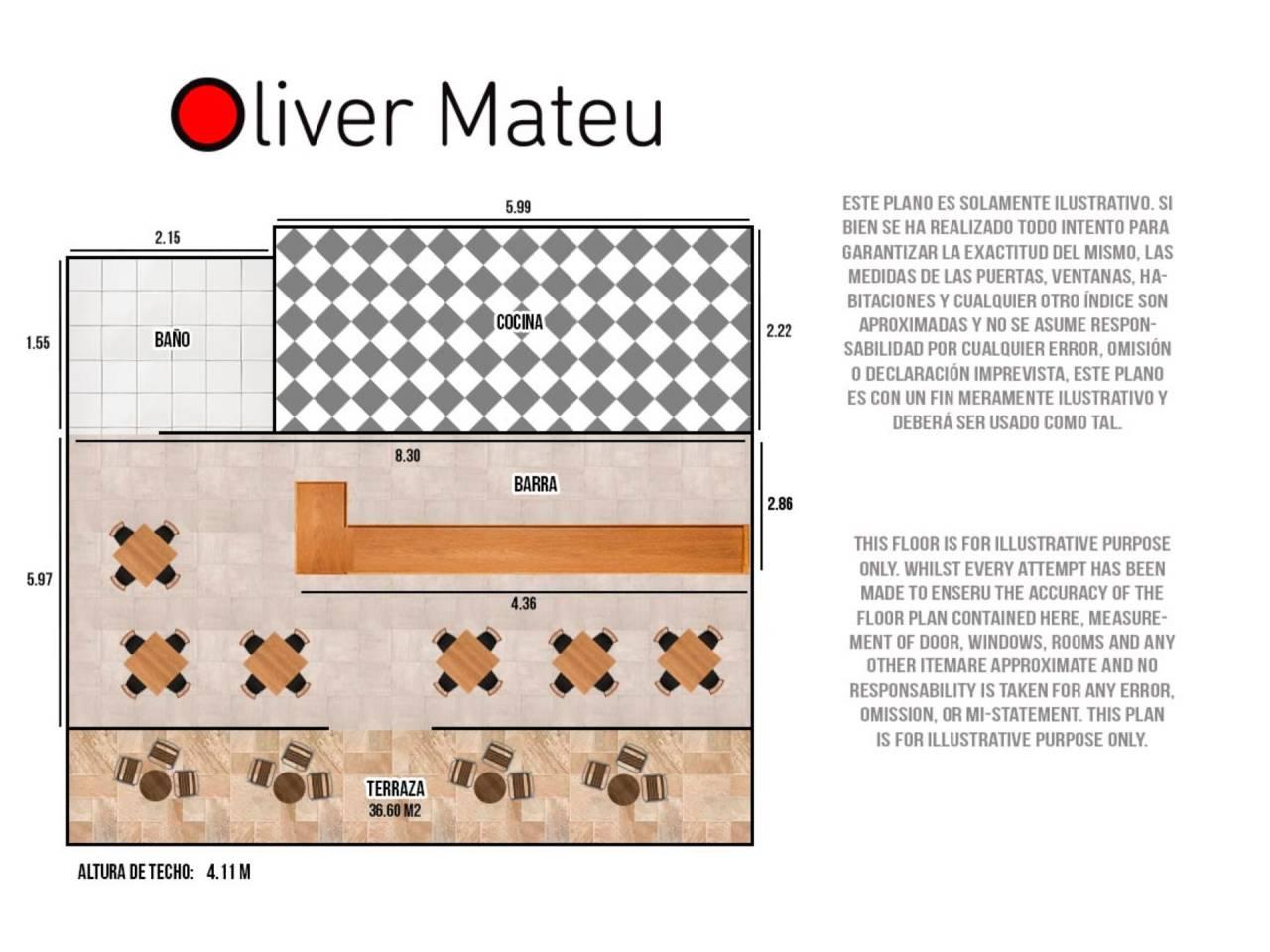 Traspaso Local Comercial  Calle gabriel roca. Local reformado y listo para entrar con terraza de 36.60m² con t