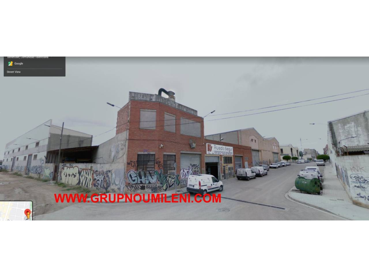 Nau industrial  Calle almirante ciscar. Superficie total 400 m², nave industrial superficie solar 350 m²