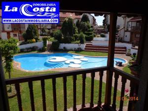 Casa adosada en Alquiler vacacional en Chalet Adosado con Piscina a 300m de Playa Somo Alquiler Verano / Ribamontán al Mar