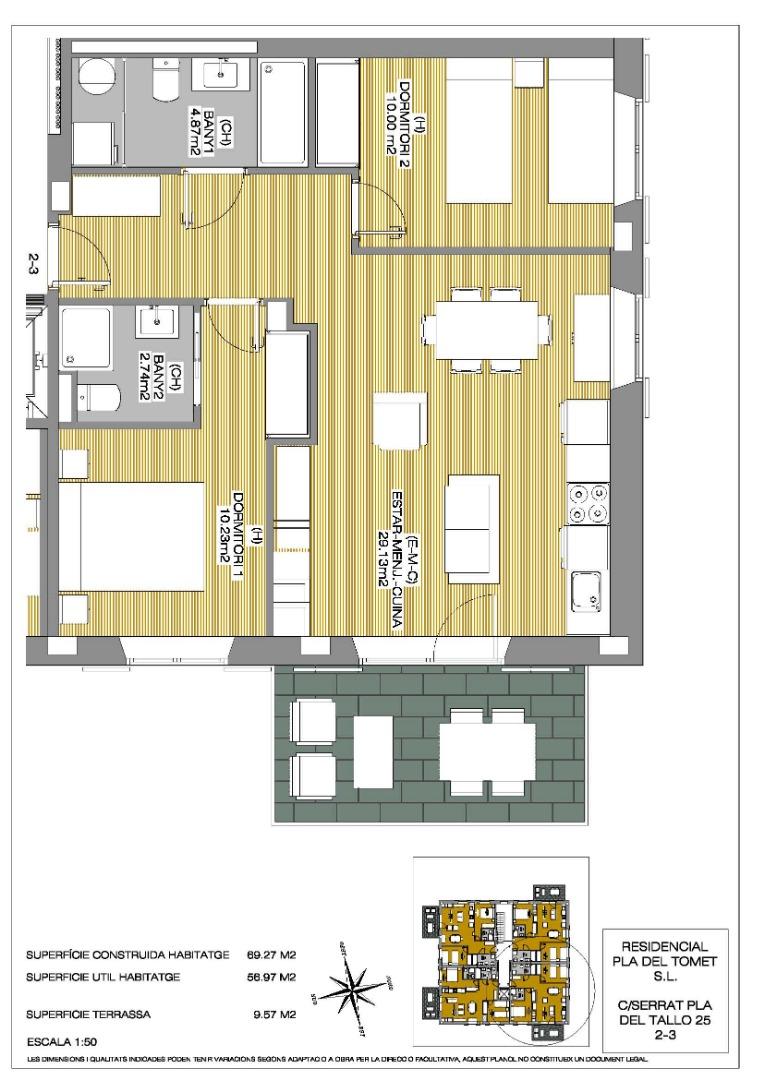 Appartement  Calle serrat pla de tomet, 25. Bloc de vivendes amb ascensor en construcció, entrega claus dese