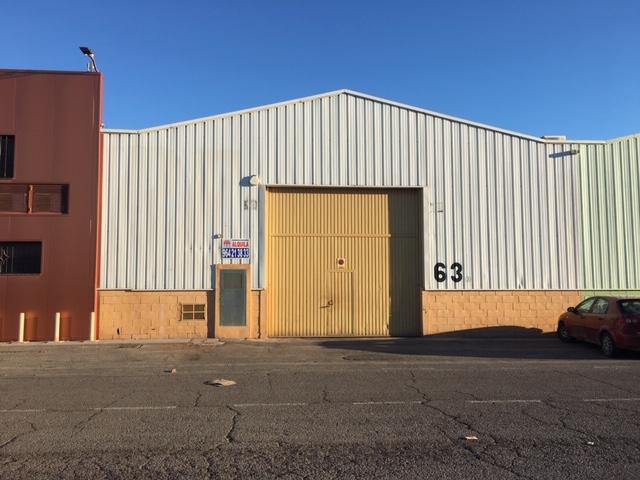Rental Industrial building  Pol. ind.  los cipreses. Pol. ind. los cipreses, nave diafana en calle central de 620 mts