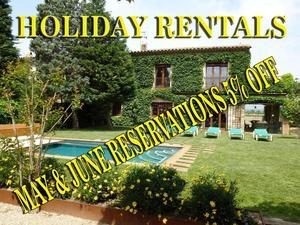 Fincas rústicas de alquiler vacacional con terraza en España