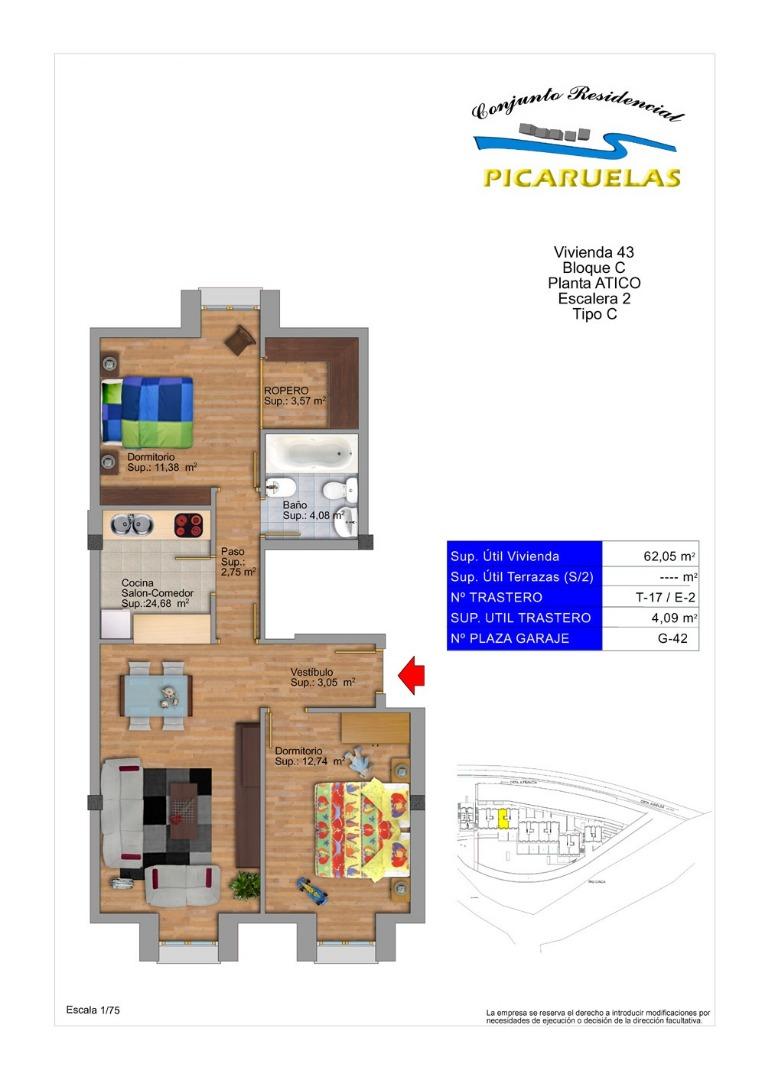 Ático en venta con 88 m2, 2 dormitorios  en Bielsa