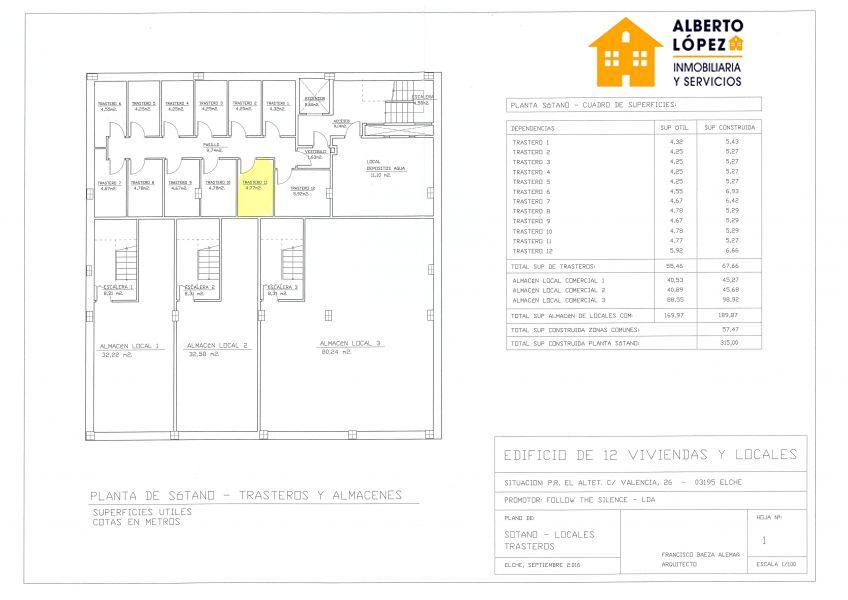 Magatzem  El altet ,el altet. Trasteros de obra nueva de en el altet centro desde 4.500€