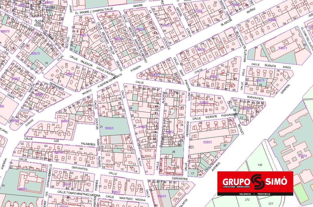 Solar urbano  Calle buenavista. Solar en el centro de alaquas - ref. ig-217
