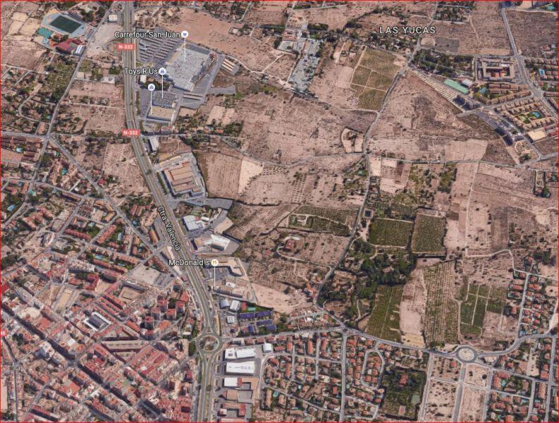 Solar urbano  San juan alicante ,san juan alicante. 70.000 metros cuadrados urbanizables en san juan, carretera vale