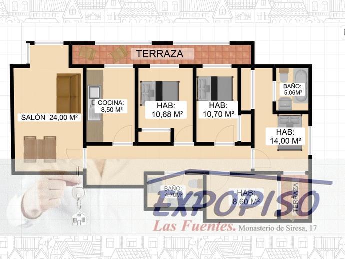 Foto 5 de Piso en Santa Isabel -Seminuevo 4Hab+S,2 Baños, Garaje / Santa Isabel - Movera,  Zaragoza Capital