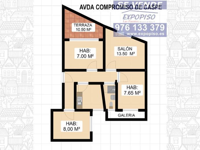 Foto 3 de Ático en Avda Compromiso De Caspe,Terraza / Las Fuentes,  Zaragoza Capital