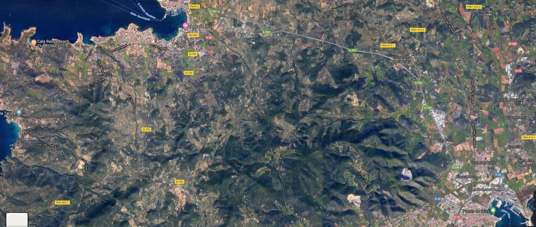 Area edificabile urbana  Sant antoni de portmany. Gran terreno en san rafael de 291.427m2.