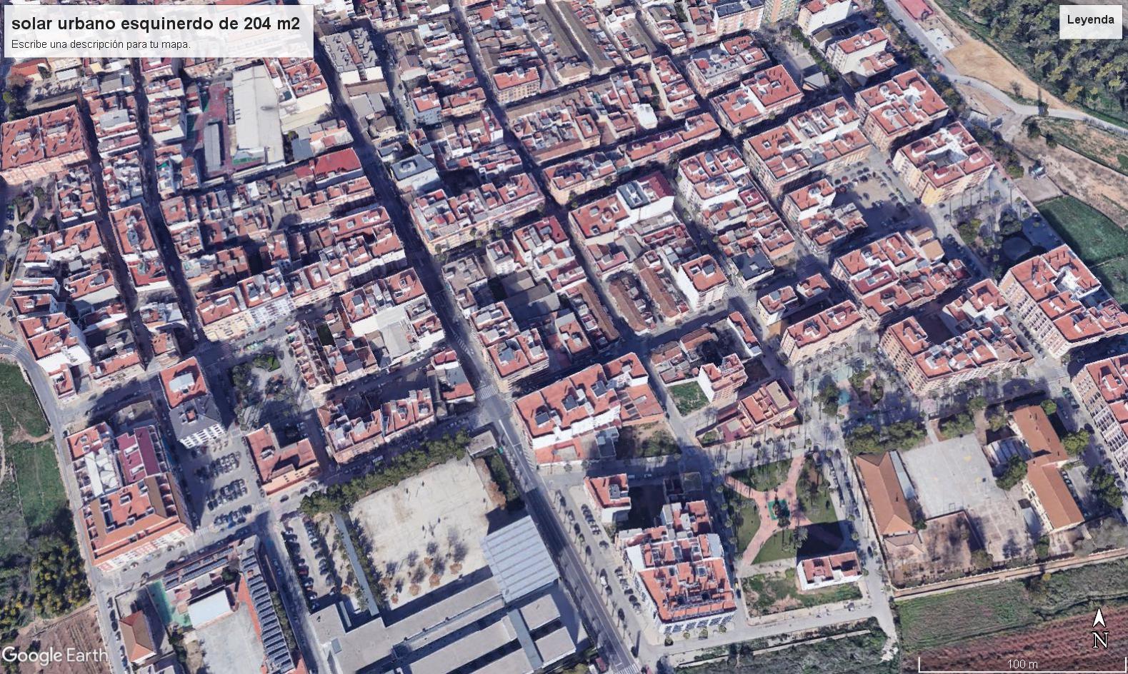 Terrain urbain  Carlet. Parcela urbana  esquinera de 204 m2, ideal para construir o prom